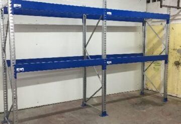 מדפים תעשייתיים למחסן צבע כחול